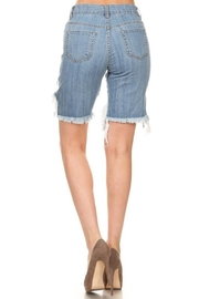 GJG Denim Daisy Bermuda Shorts - Front full body
