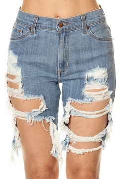 GJG Denim Daisy Bermuda Shorts - Product List Image