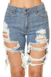 GJG Denim Daisy Bermuda Shorts - Front cropped