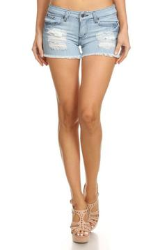 GJG Denim Distressed Denim Shorts - Product List Image