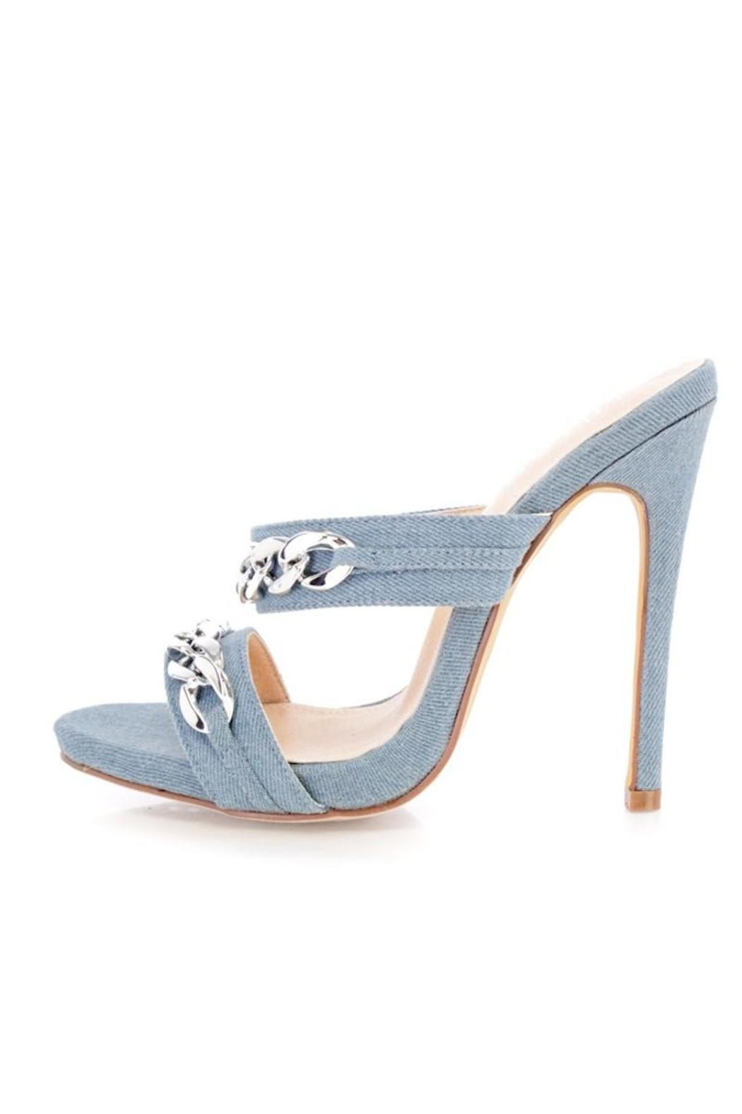 GL Denim Strappy Heels - Main Image