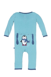 Kickee Pants Glacier Penguin Coverall - Front cropped