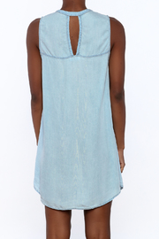 Glam Baby Blue Dress - Back cropped