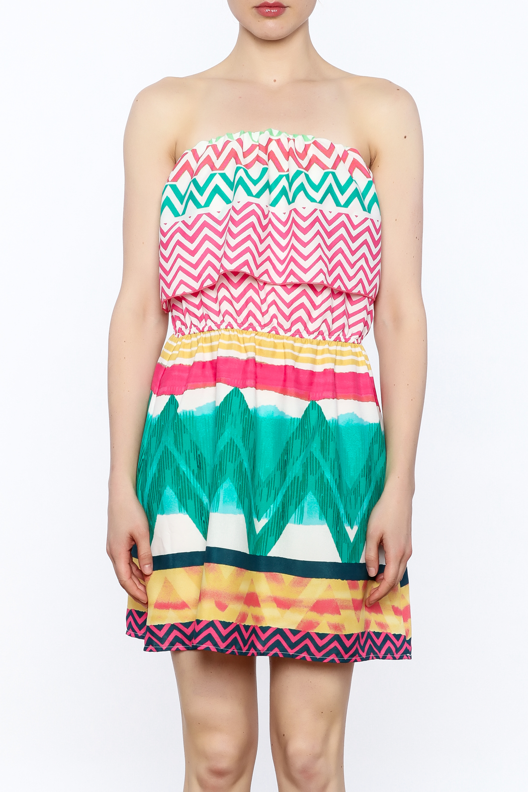 Glam Bright Lorrie Dress - Front Full Image
