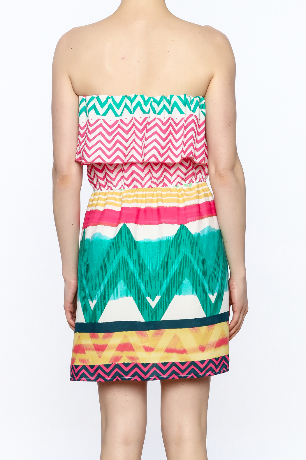 Glam Bright Lorrie Dress - Back Cropped Image