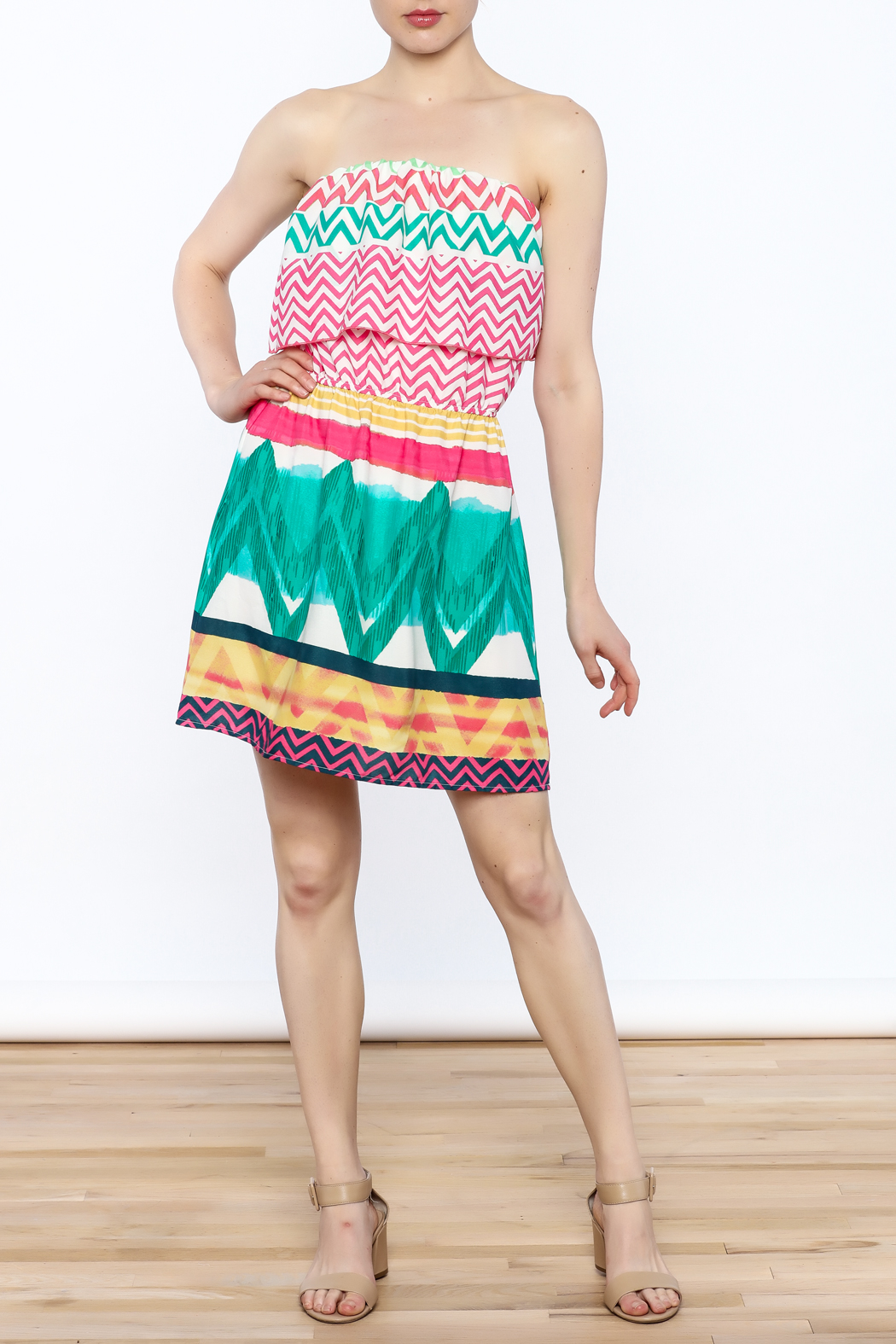 Glam Bright Lorrie Dress - Side Cropped Image