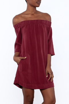 Shoptiques Product: Burgundy Pocket Dress