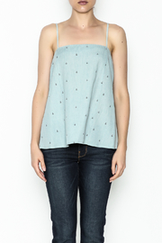 Glam Chambray Anchor Tank - Front full body