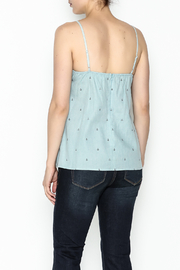 Glam Chambray Anchor Tank - Back cropped