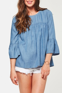 Shoptiques Product: Chambray Bell Sleeve