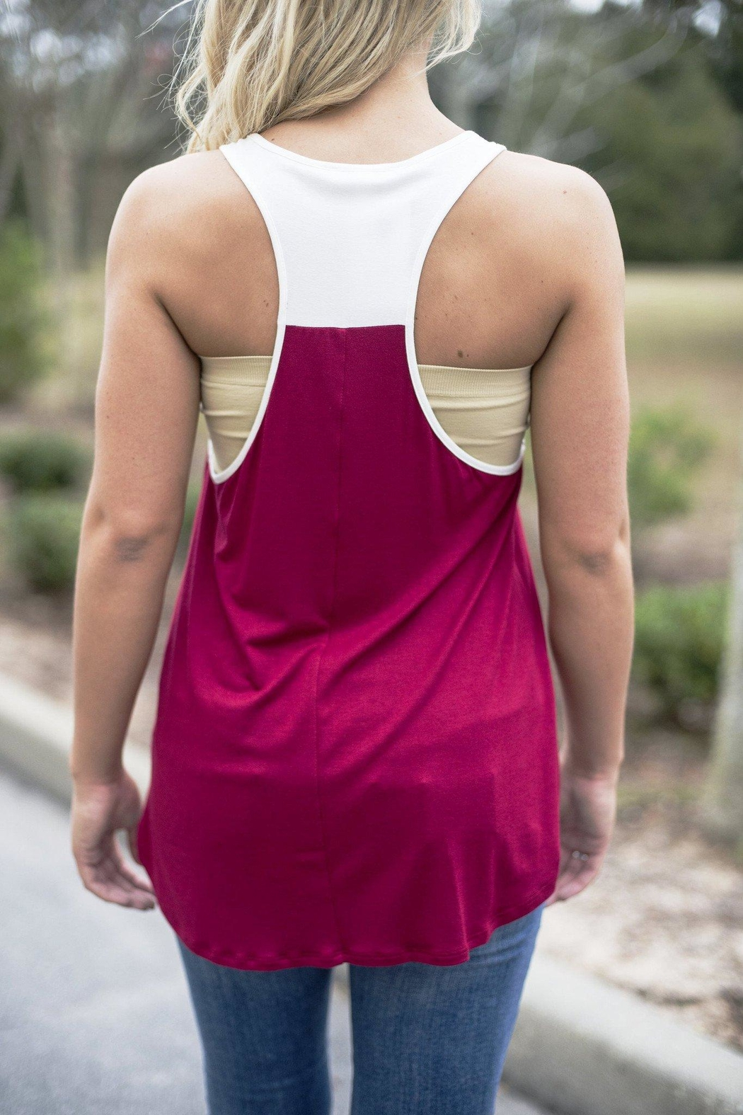 Glam Color Block Tank - Front Full Image