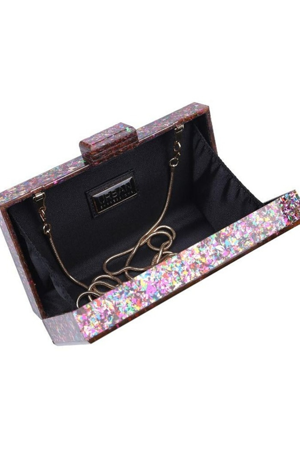 Urban Expressions Glam Confetti Clutch - Side Cropped Image