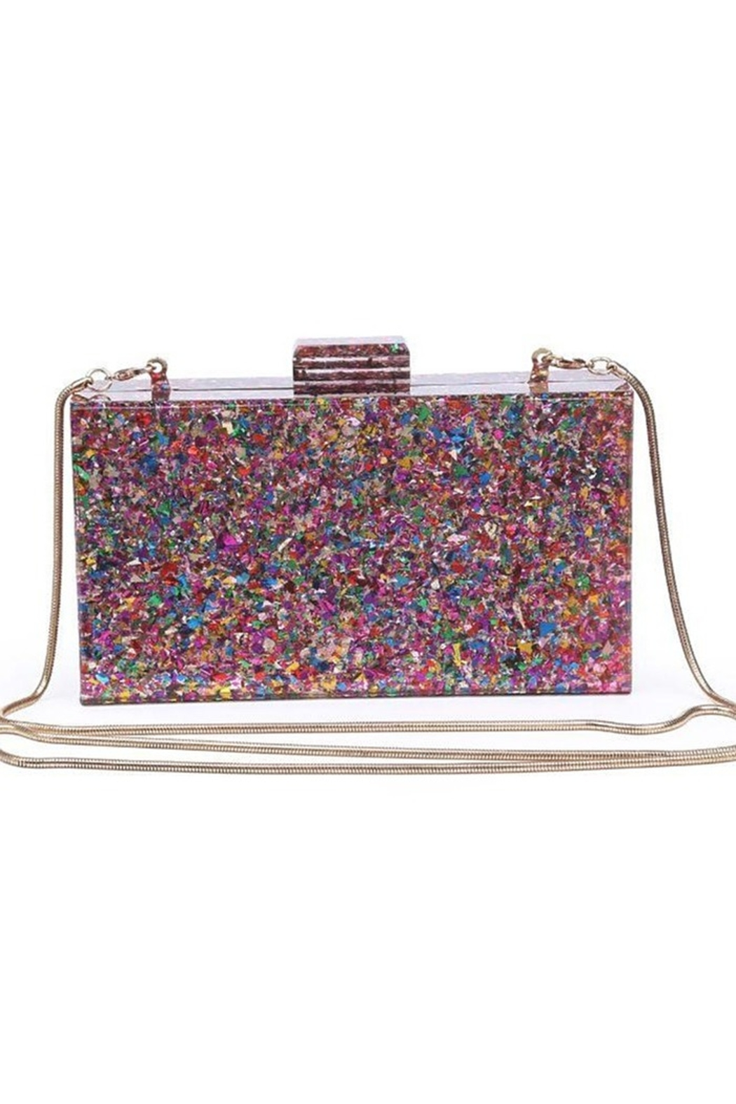 Urban Expressions Glam Confetti Clutch - Front Full Image