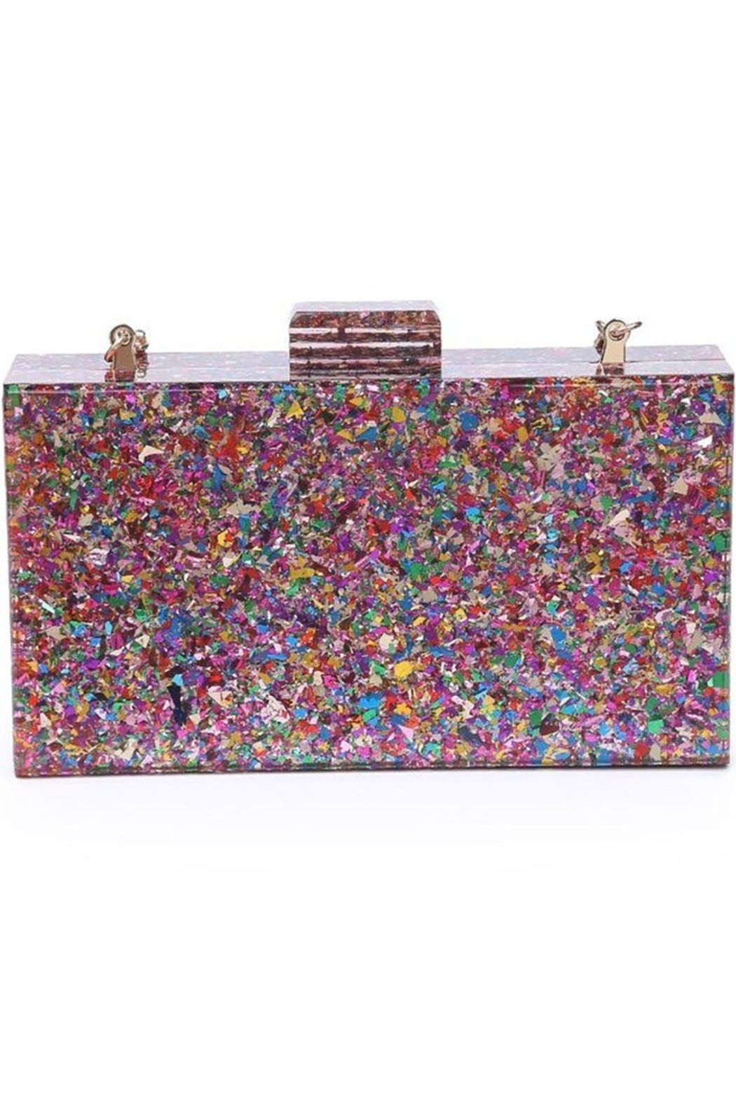Urban Expressions Glam Confetti Clutch - Front Cropped Image