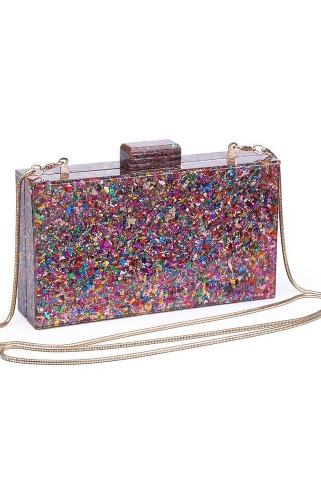 Urban Expressions Glam Confetti Clutch - Back Cropped Image