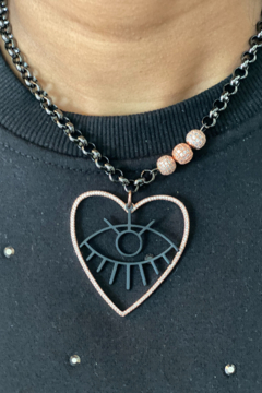 Love Lisa Glam Love Eye Necklace - Product List Image