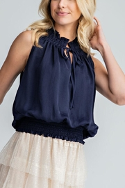 Glam Mocked Sleeveless Top - Front cropped
