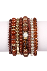 Riah Fashion Glam-Multi-Bead Bracelet Set - Product Mini Image
