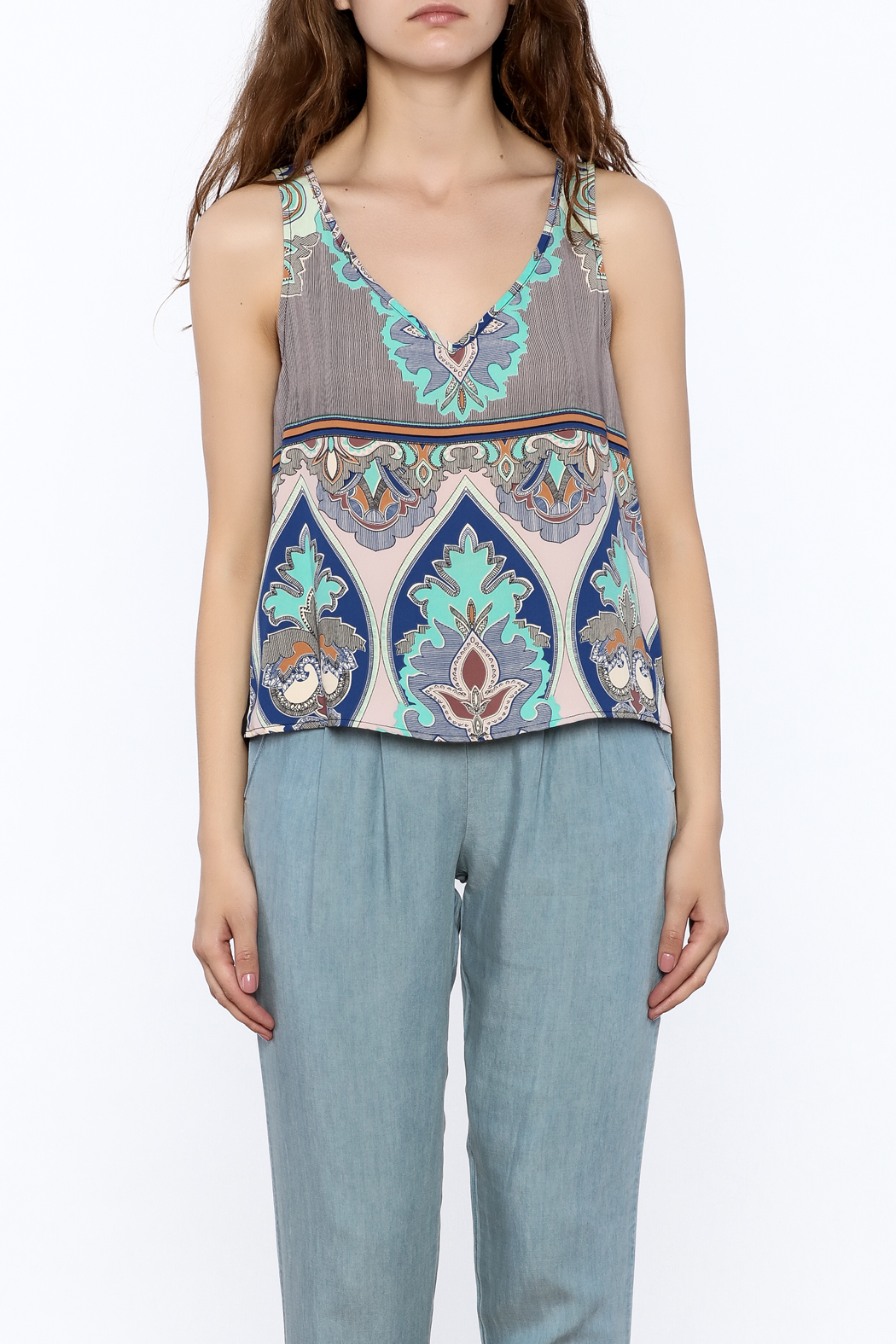 Glam Paisley Panel Tank - Side Cropped Image