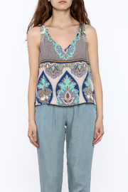 Glam Paisley Panel Tank - Side cropped