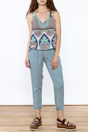 Glam Paisley Panel Tank - Front full body
