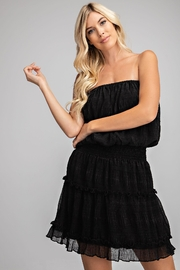 Glam Ruffled Tube Mini Dress - Front cropped