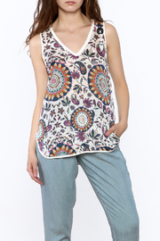 Glam Silk Floral Tank - Front cropped