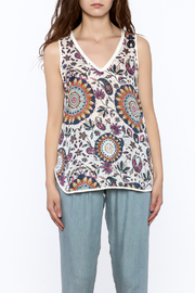 Glam Silk Floral Tank - Side cropped