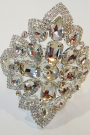 KIMBALS GLAM SILVER RHINESTONE BRACELET - Front cropped