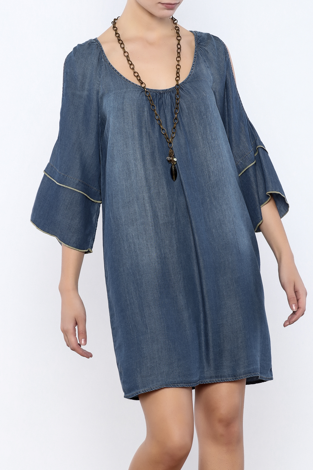 Glam Split Sleeve Denim - Main Image