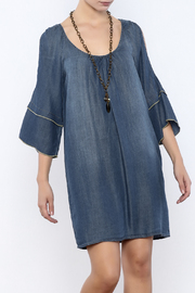 Glam Split Sleeve Denim - Product Mini Image
