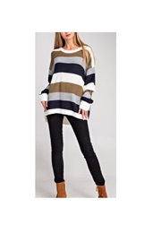 Glam Striped Sweater - Product Mini Image