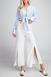 Glam Tie-Front Crop Top - Front cropped