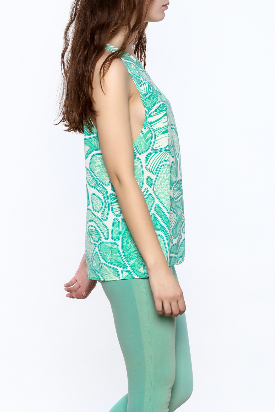 Glam Turquoise A-Line Top - Main Image