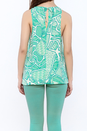 Glam Turquoise A-Line Top - Back cropped