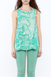 Glam Turquoise A-Line Top - Side cropped