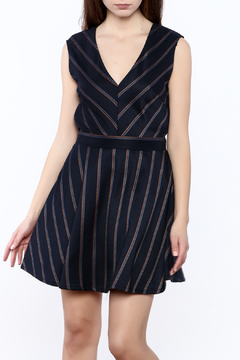Glam V-Neck Stripe Dress - Product List Image