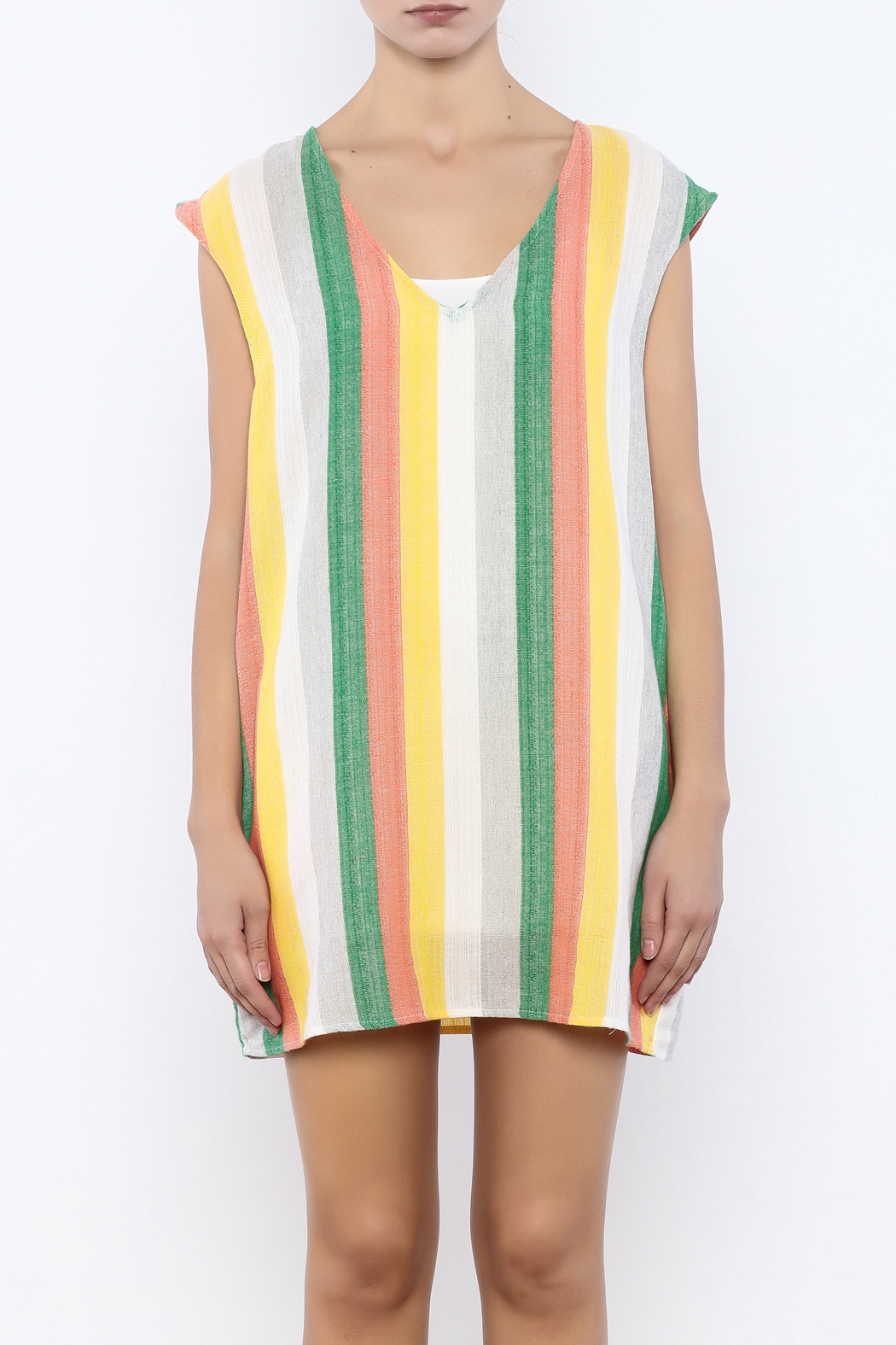 Glam Vertical Tropicana Dress - Side Cropped Image