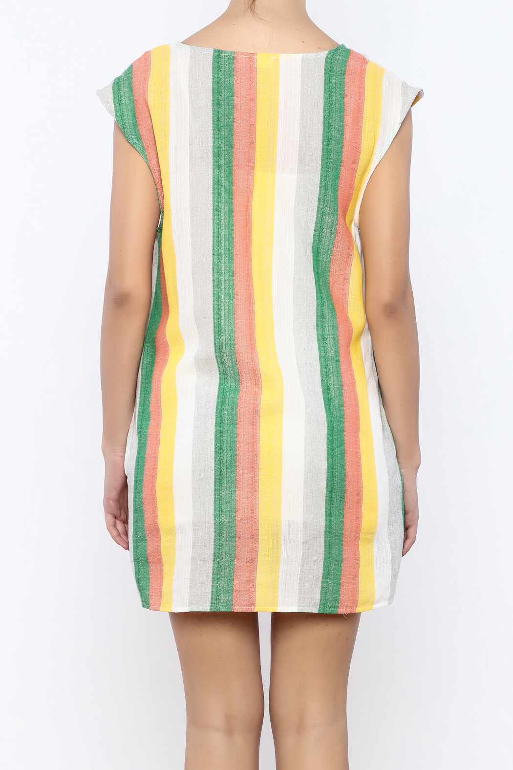 Glam Vertical Tropicana Dress - Back Cropped Image
