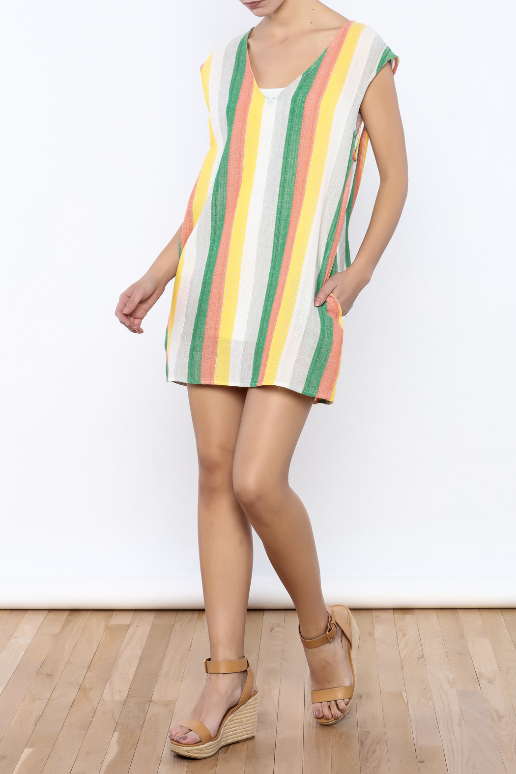 Glam Vertical Tropicana Dress - Front Full Image