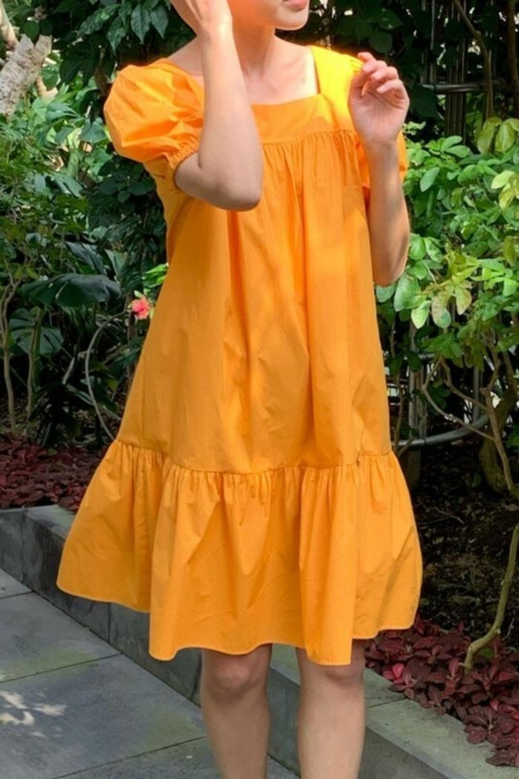 Glam Expressway Tangerine Swing Dress - Main Image