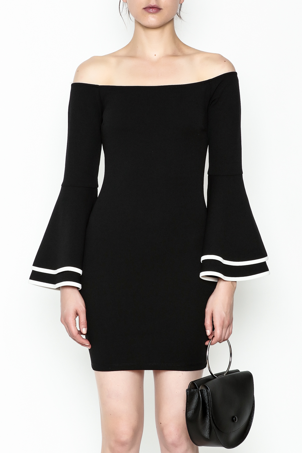 Glamazon Bell Sleeve Dress - Front Full Image