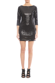 Glamorous Black Sequin Dress - Side cropped