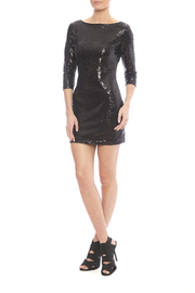 Glamorous Black Sequin Dress - Front full body