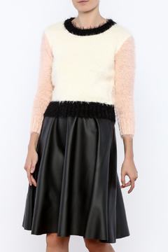 Glamorous Colorblock Crop Sweater - Product List Image