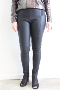 Shoptiques Product: Lacey Leather Leggings