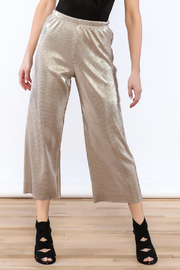 Glamorous Metallic Pleated Culottes - Product Mini Image