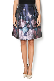 Glamorous Navy Floral Skirt - Product Mini Image