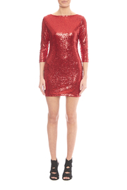 Glamorous Red Sequin Dress - Side cropped