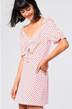 Glamorous Spotted Sweetheart Dress - Product List Image